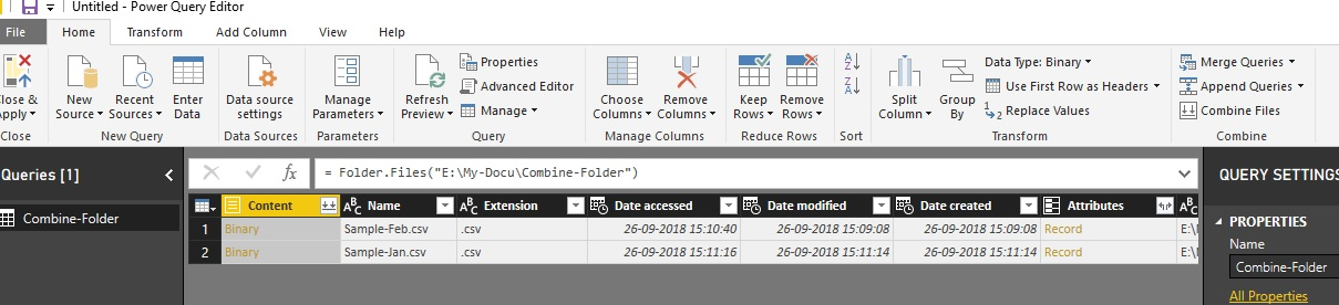 Solved: Get data from folder and append - Microsoft Power BI