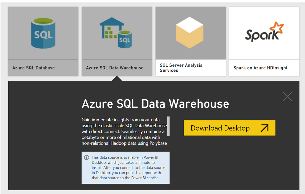 Solved: Connect to Azure SQL DW - Microsoft Power BI Community