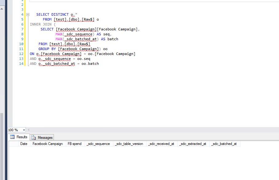 Solved: DAX/Query to Dedupe Data From Append Only BigQuery