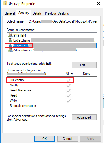 Access to the path User zip' is denied - Microsoft Power BI Community