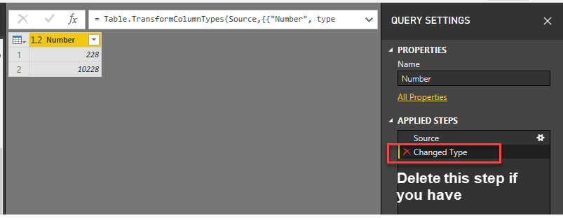 Solved: change format from text to number - Microsoft Power