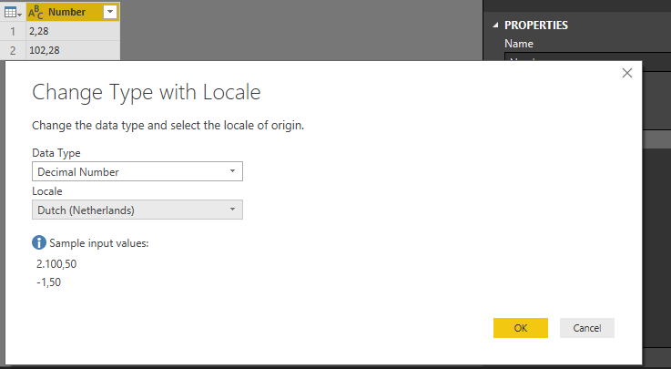 Solved: change format from text to number - Microsoft Power BI Community