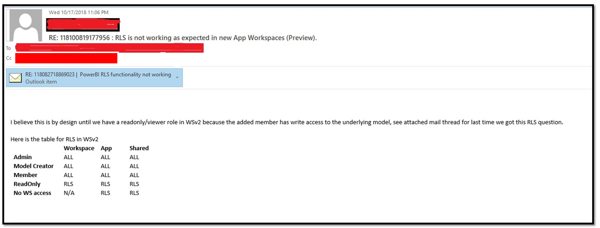 RLS not working in new workspaces (preview) - Microsoft Power BI