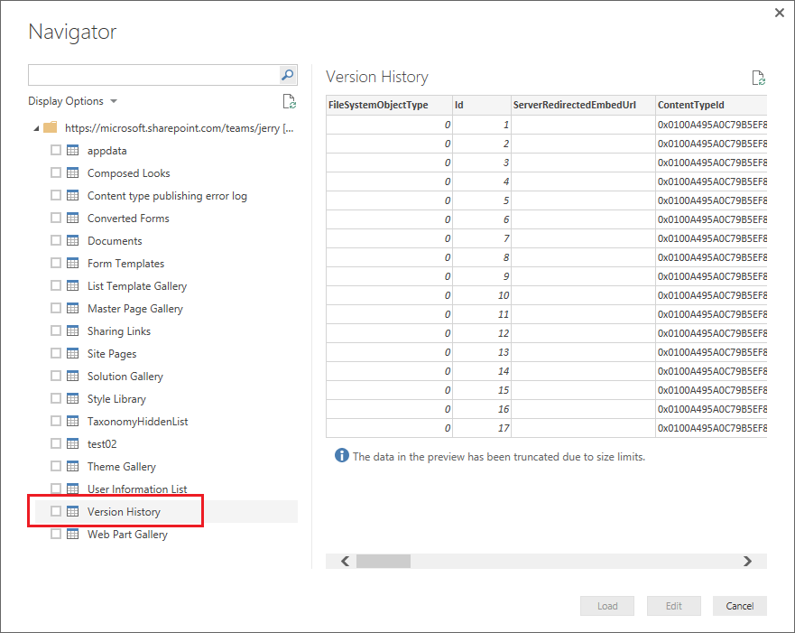 Getting SharePoint List items with full history ve