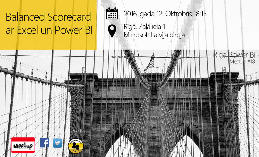 Balanced Scorecard visualisation and management in Excel 2016 and Power BI