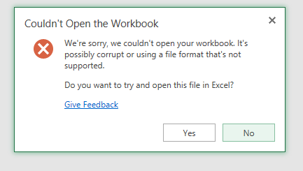 Solved: Excel Export File from a Table is Corrupt