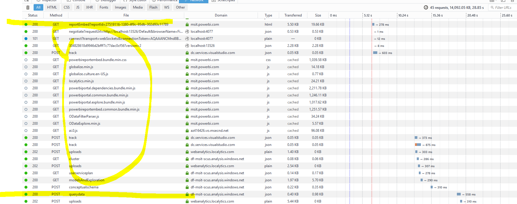 Check if PowerBI page is loaded (using Selenium) - Microsoft