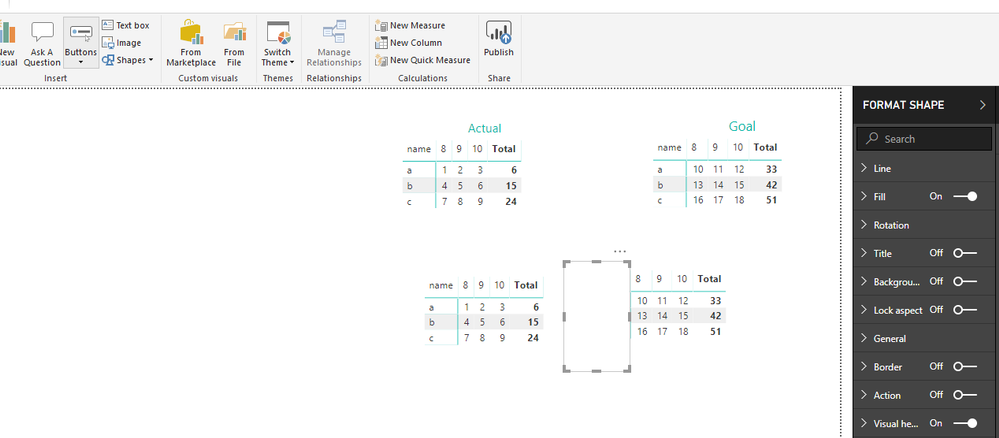 Solved: Overlapping Two Matrix Tables - Microsoft Power BI