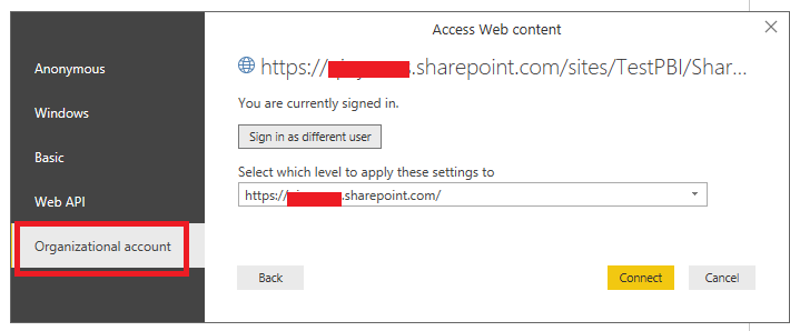 Solved: Cannot link a Sharepoint Excel file to Desktop Pow