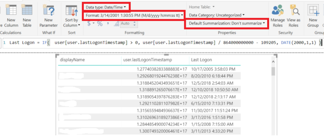 Solved: Active Directory user lastLogon - Microsoft Power BI Community