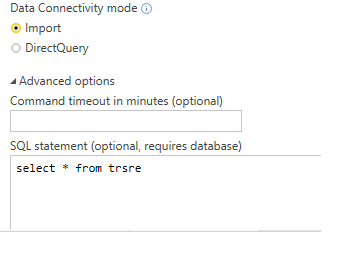 Solved: direct query from db2 for items at powerbi table o