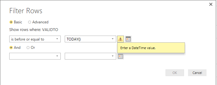 Solved: Power Query Current Date Filter - Microsoft Power BI
