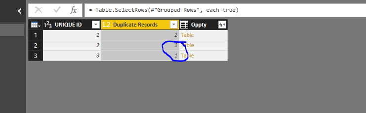 Solved: Displaying rows with a duplicate same-column value