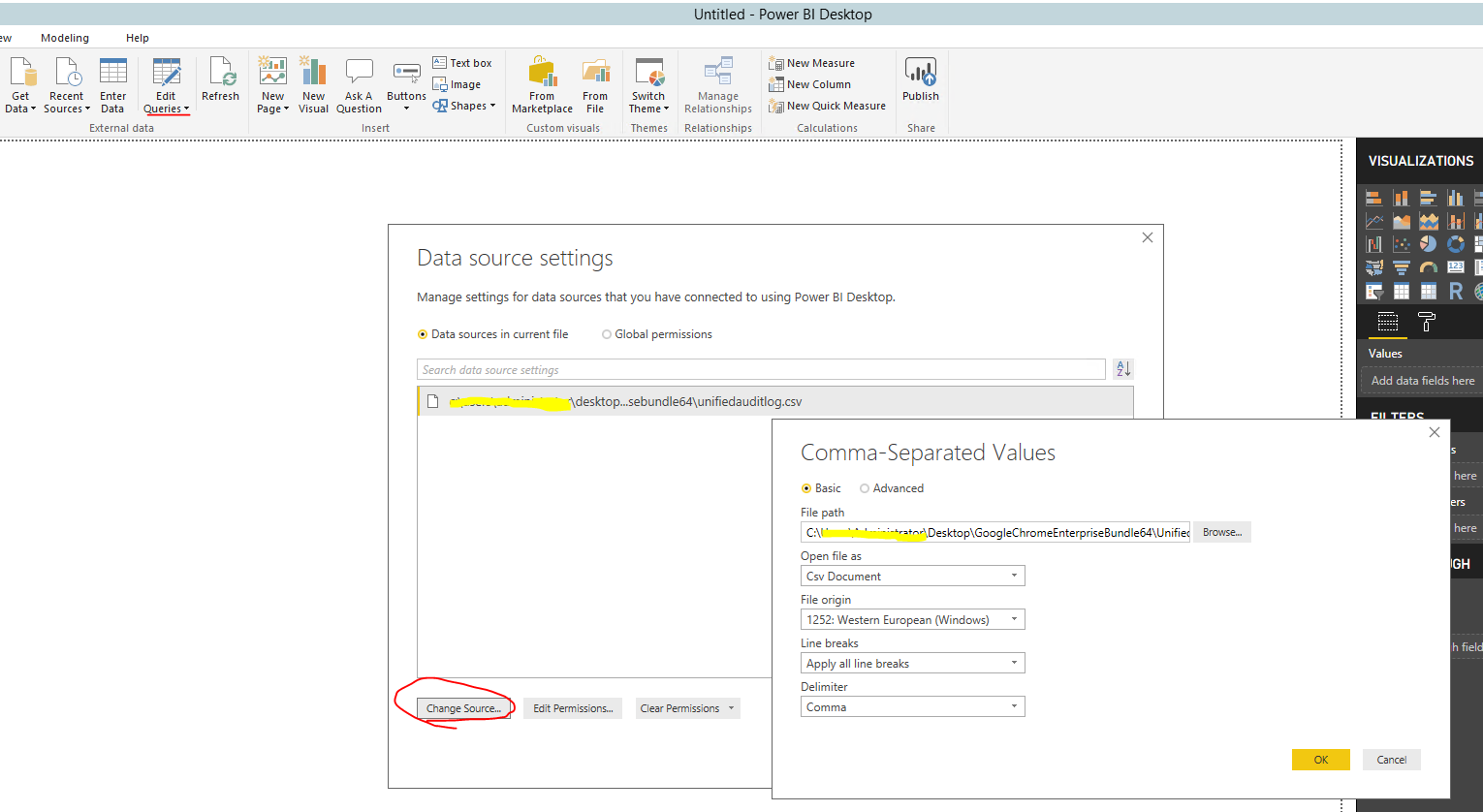 Solved: power query evaluation stuck at 100% - Microsoft Power BI