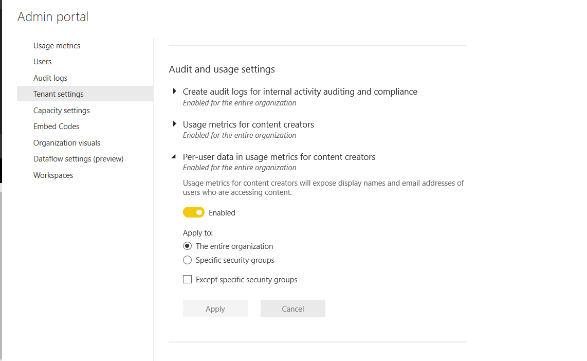 Solved: Unnamed users signify in power bi usage metrics - Microsoft