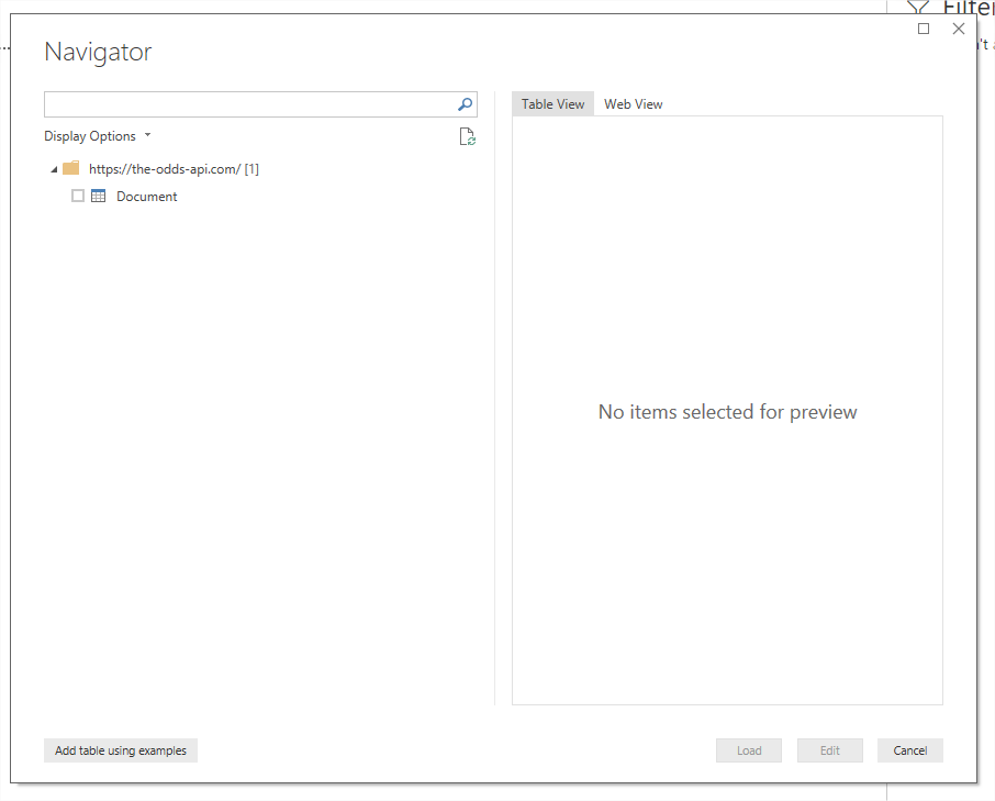 Solved: Get data from web api select authentication method