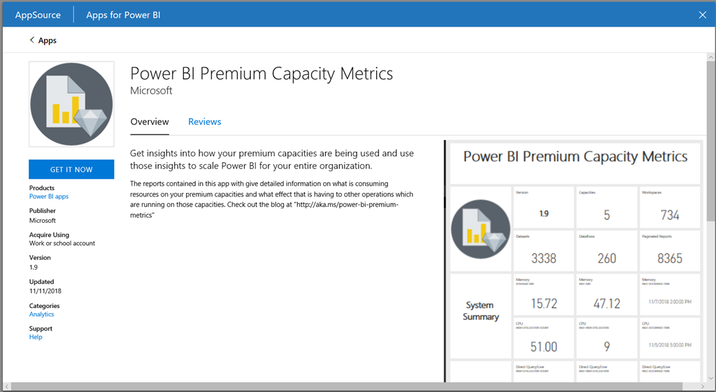 Webinar - Tour of the new Power BI Premium Capacity metrics app