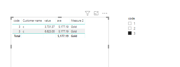 Solved: How to Use Total Average instead of 3 or 4 rows di