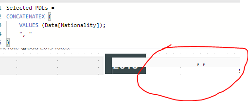 Solved: display multiple elements with SELECTEDVALUE