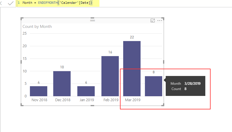 EndOfMonth DAX Function Issues - Microsoft Power BI Community