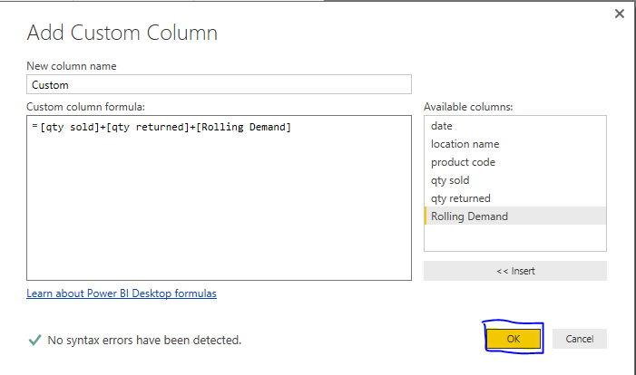 Solved: How to Sum columns in edit queries  - Microsoft Power BI