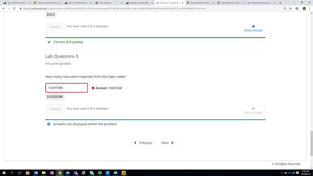 Exercise 1- Import Data from Access Database issue    - Microsoft