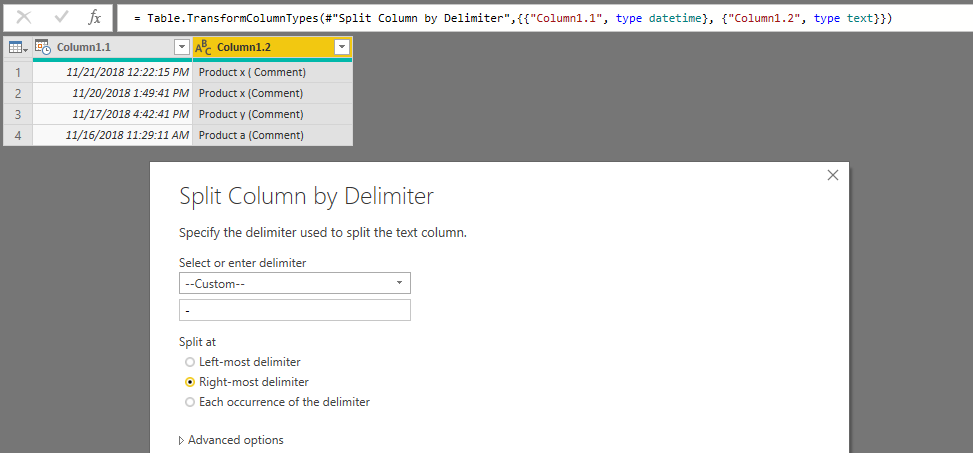 Multiple lines text data extraction - Microsoft Power BI