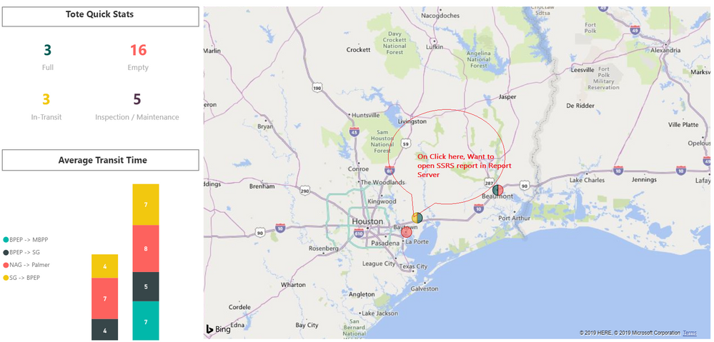 Open SSRS report from Power BI map bubble click - Microsoft