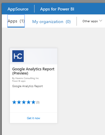 Ginoogle Analytics App no longer available in Powe    - Microsoft