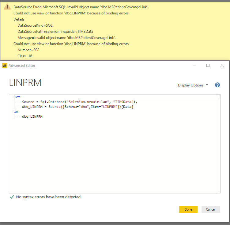 SQL Server Connection- LINPRM.PNG