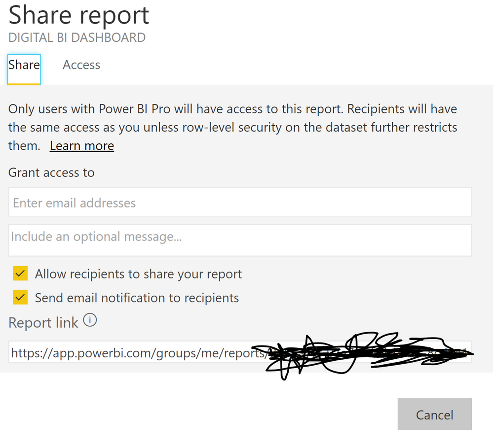 Unable to share dashboards or reports - Microsoft Power BI Community