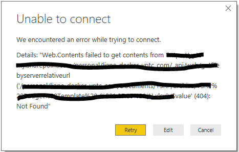 Issue with connecting Excel shared on OneDrive - Microsoft Power BI