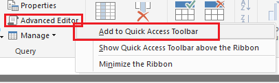 Solved: Cannot Customize Quick Access Toolbar in dropdown