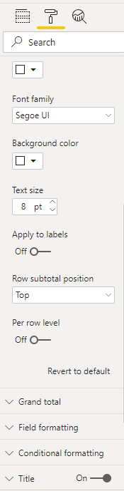 Solved: Exclude Certain Subtotals From Matrix - Microsoft