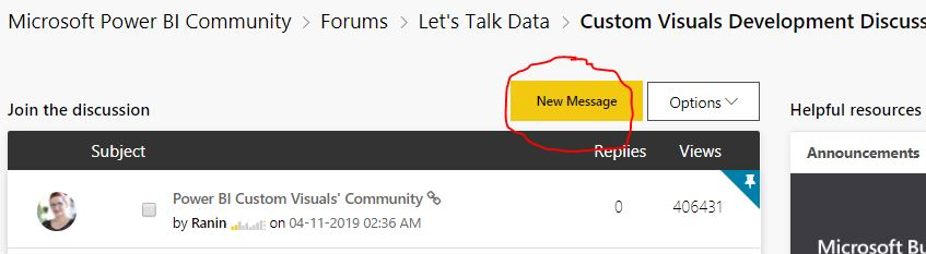 Solved: how do I post a comment/question - Microsoft Power BI Community