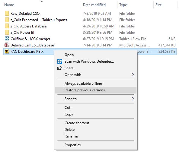 Solved: File recovery - Microsoft Power BI Community
