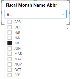 Solved: sorting month in dropdown - Microsoft Power BI Community