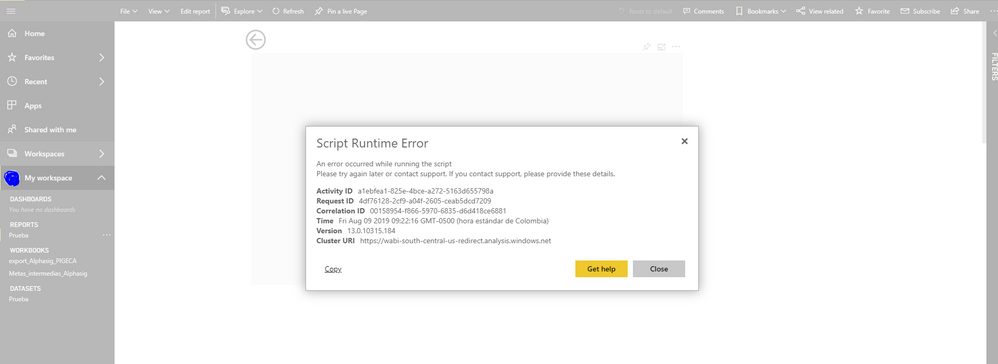 Custom Visual doesn't work in Power Bi service - Microsoft Power BI