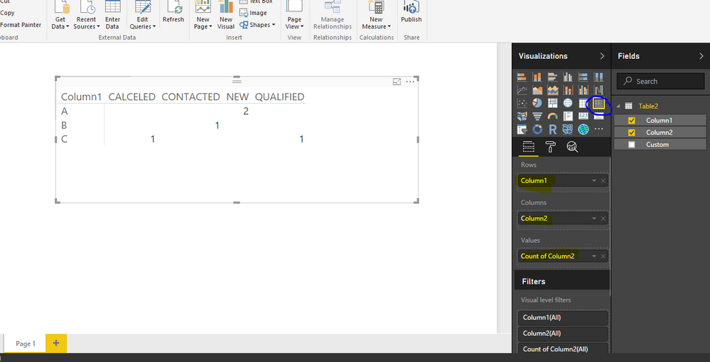 Solved: count number of filtered rows - Microsoft Power BI