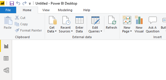 how can i import data from excel to powerbi withou