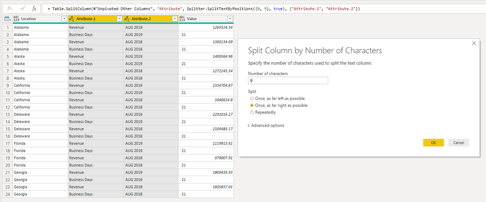 step 3 Calculation Between Two Columns - Rolling 24 Months - New Month Gets Added, Oldest Month Drops Off.PNG