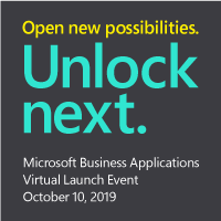 Microsoft Business Applications October Virtual Launch Event