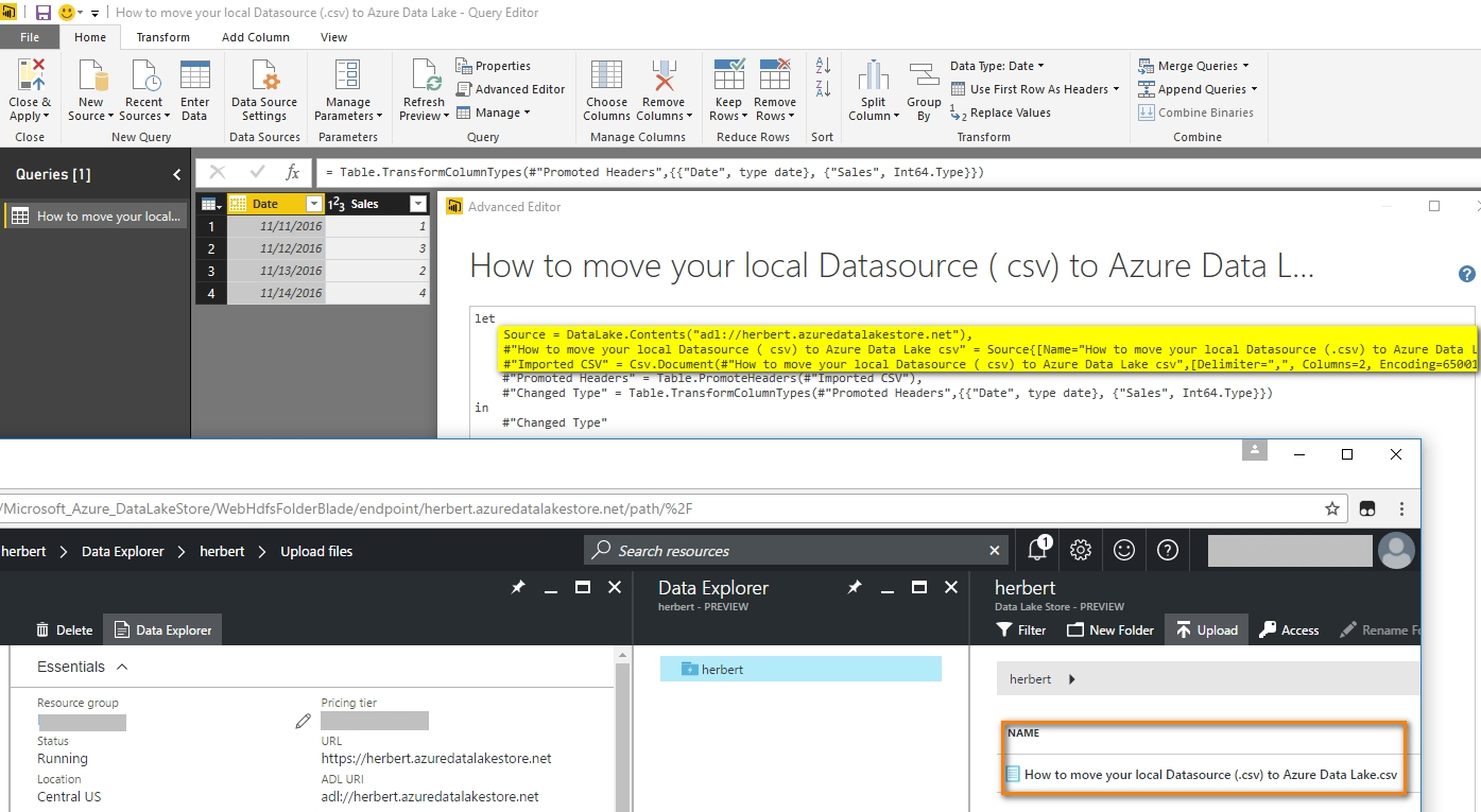 Solved: How to move your local Datasource ( csv) to Azure