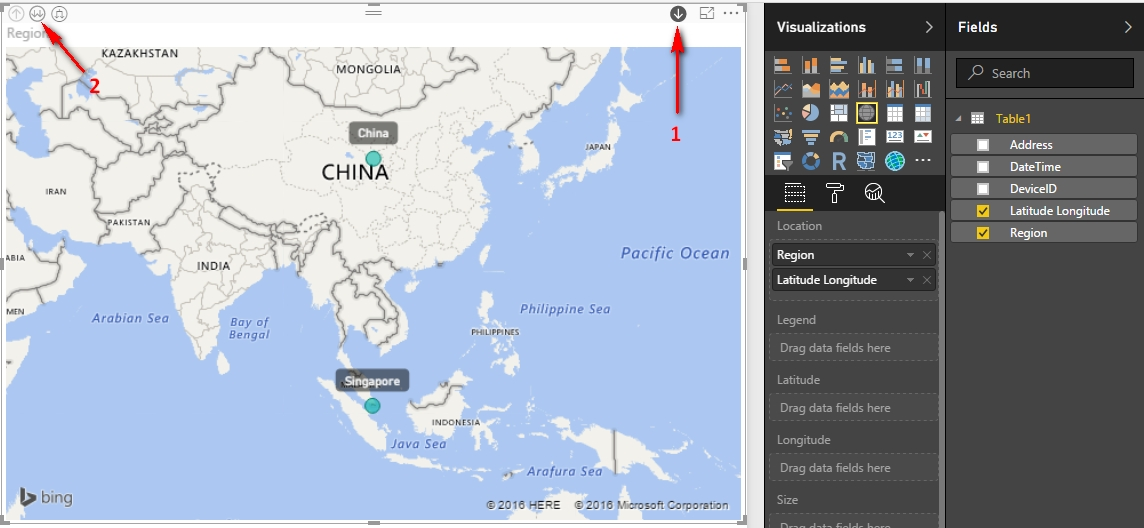 Map Of China With Latitude And Longitude.Map Hierarchy With Latitude And Longitude Region Microsoft Power