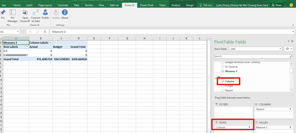 Power BI Publisher for Excel transforms values int