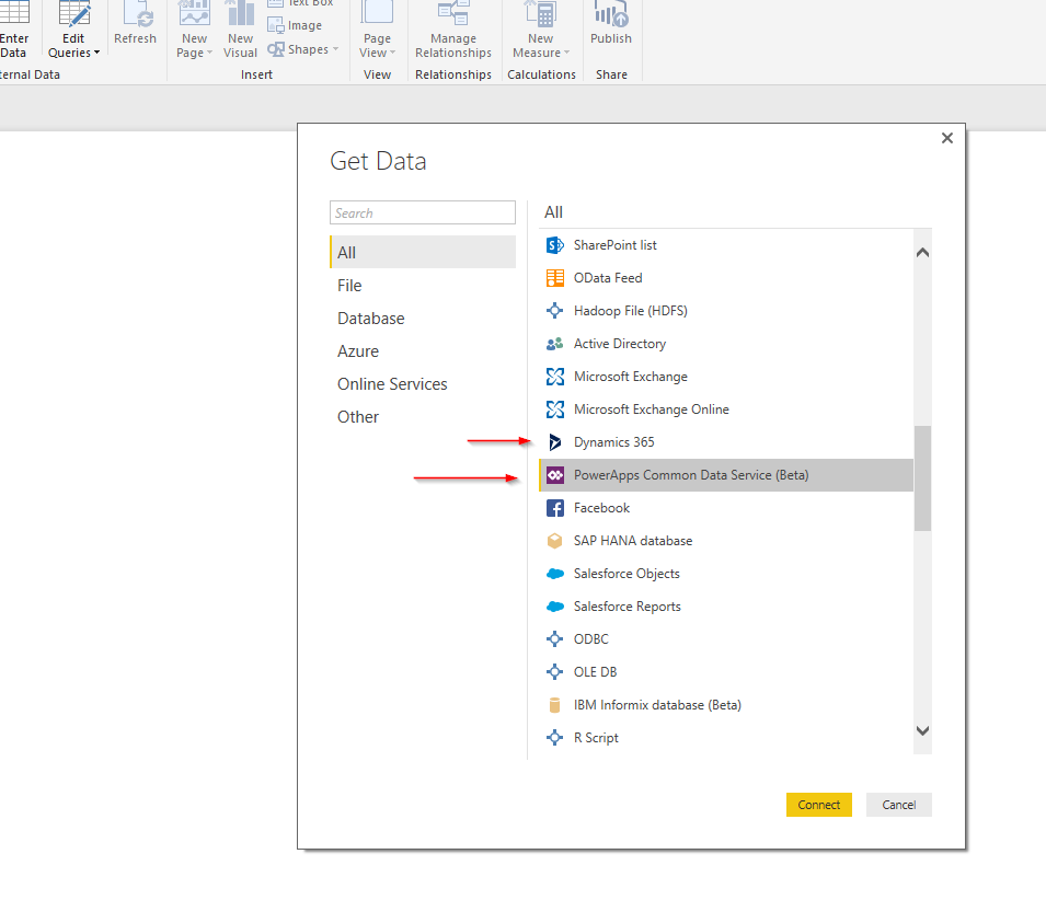 PowerApps Common Data Service as a new data source