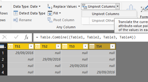 Solved: Create a new table from columns from existing tabl