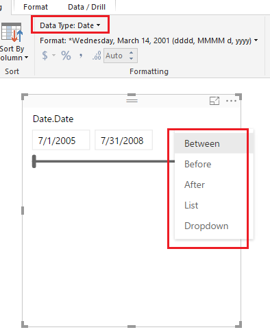 Solved: Date slicer filter doesn't work with dates from SS