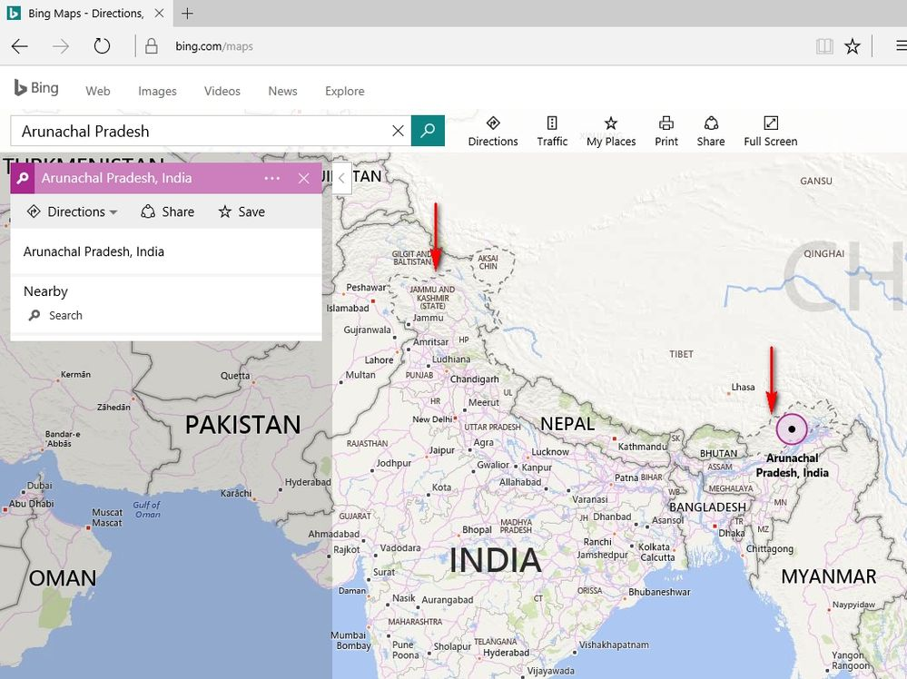 India Map With Directions.India Map On Bing Microsoft Power Bi Community