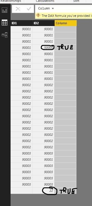 Solved: Comparing values from two columns and write result